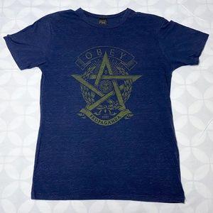 Obey Propaganda Men's Blue Heather T-Shirt